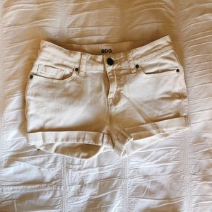 Urban Outfitters Mid-Rise White Jean Short